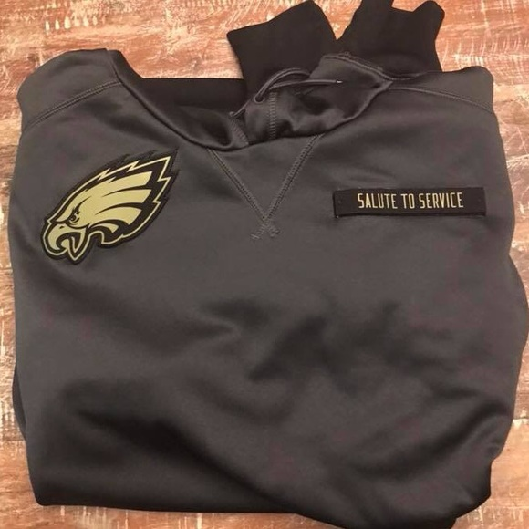 online store 01071 3a8b6 Philadelphia Eagles salute to service Nike hoodie